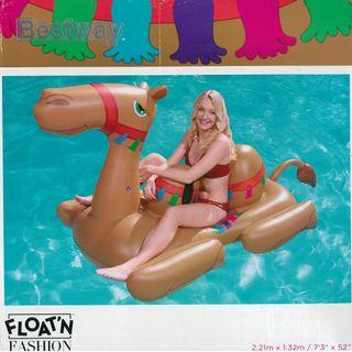 (Free Delivery) Bestway Brown Camel Animal Ride On Inflatable Swimming Float