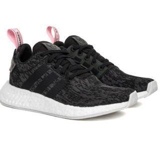 BNIB Adidas NMD R2 Black & Pink Shoes