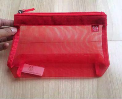NEW The Body Shop Red Pouch