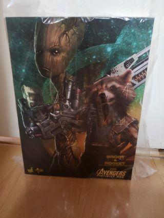 Hot toys無限之戰3 rocket and groot