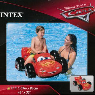 (Free Delivery) Intex Disney Pixar Cars Lightning McQueen Ride On Inflatable Swimming Float