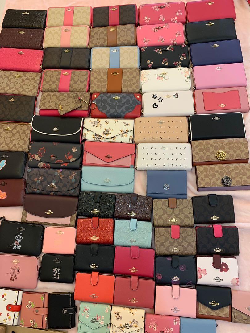 (25/04/19)Ready Stock original coach woke wallet women Kate spade purse wristlet Tory Burch handbag