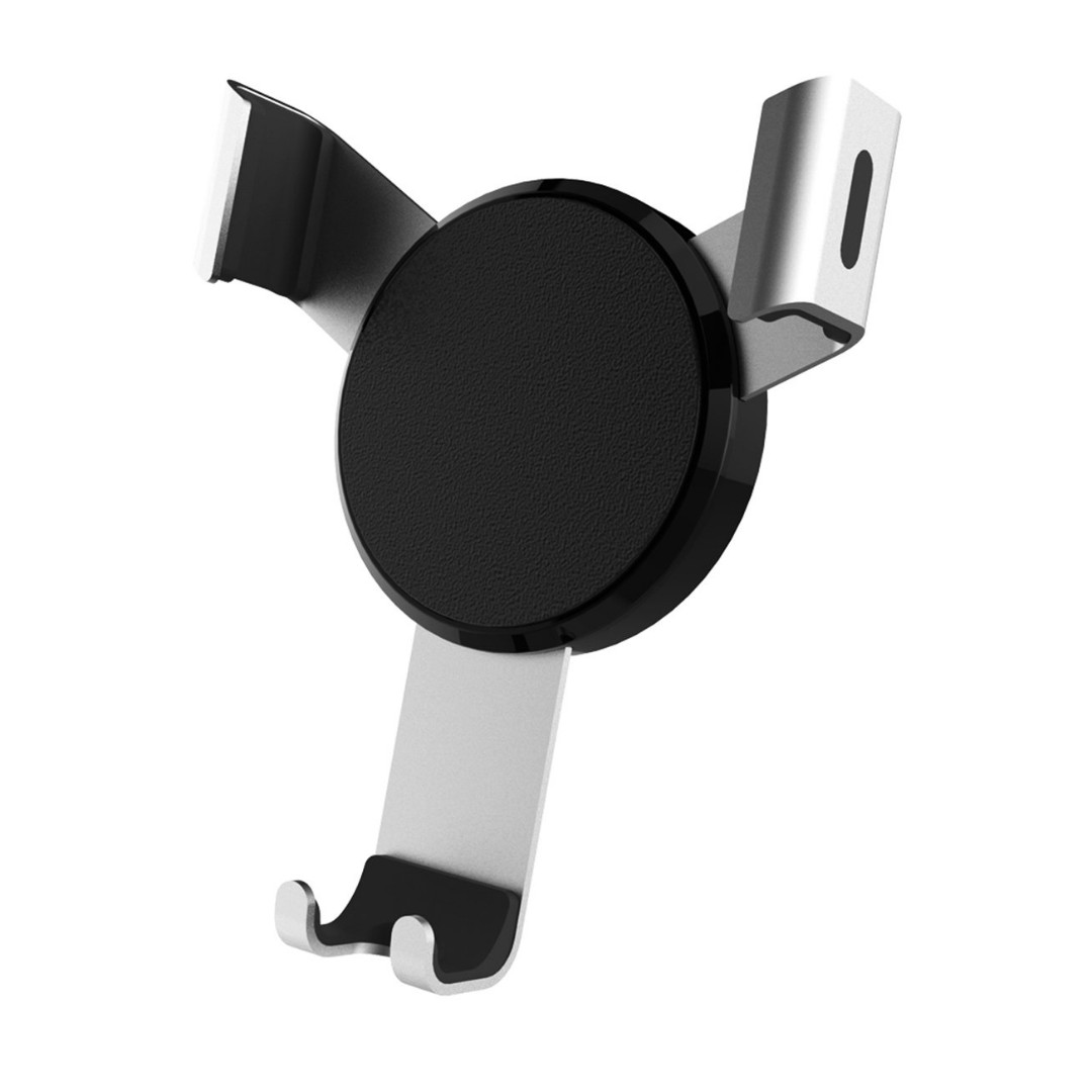 (2584) Universal Gravity Car Mount Air Vent Clip Cell Phone Holder Cradle Flexible Arm Auto-lock for iPhone X/8/8 Plus/7/7 Plus, Samsung Galaxy S8/S7/Note 8/7, Nexus, Android, Other 3-6'' Smartphone (Silver)