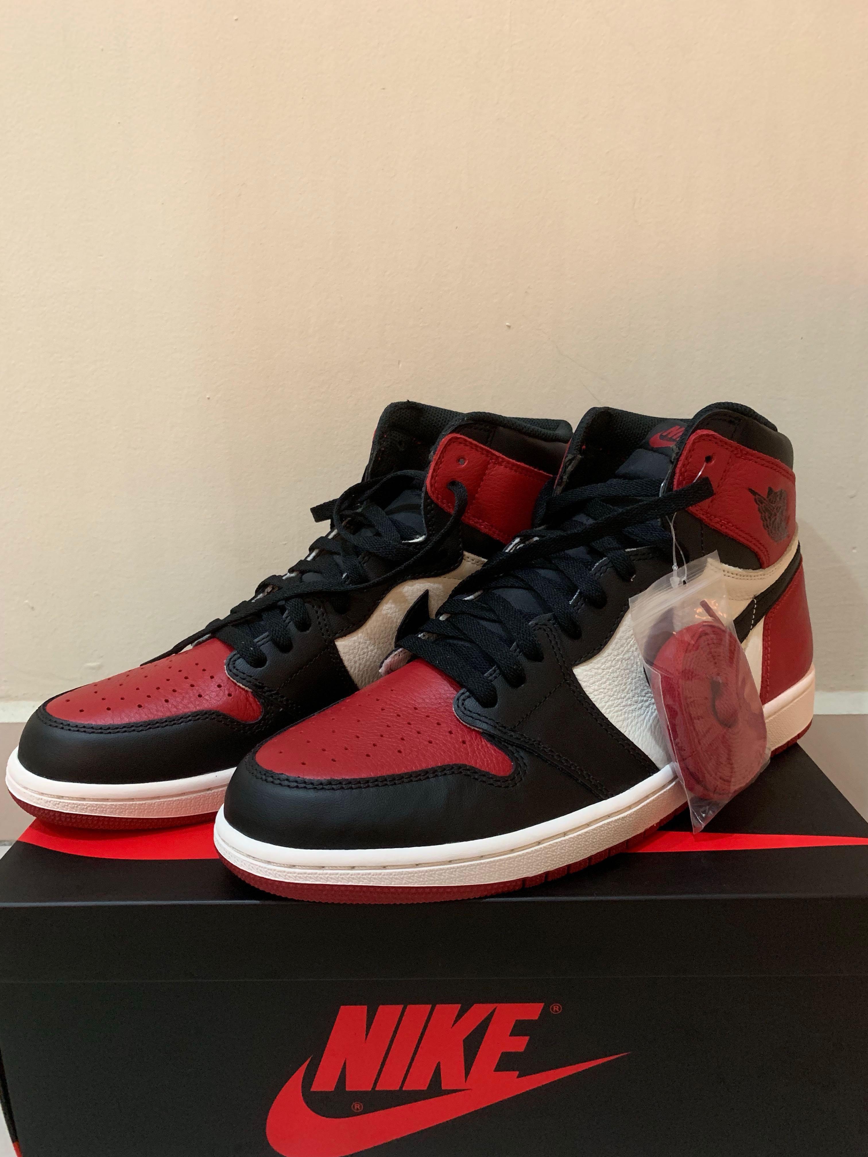 8347b8a01a3d23 2x Air Jordan 1 Bred toe and court purple