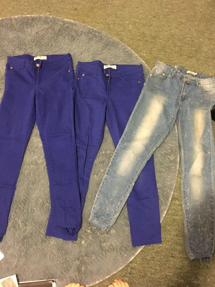 3x size 8 jeans good condition