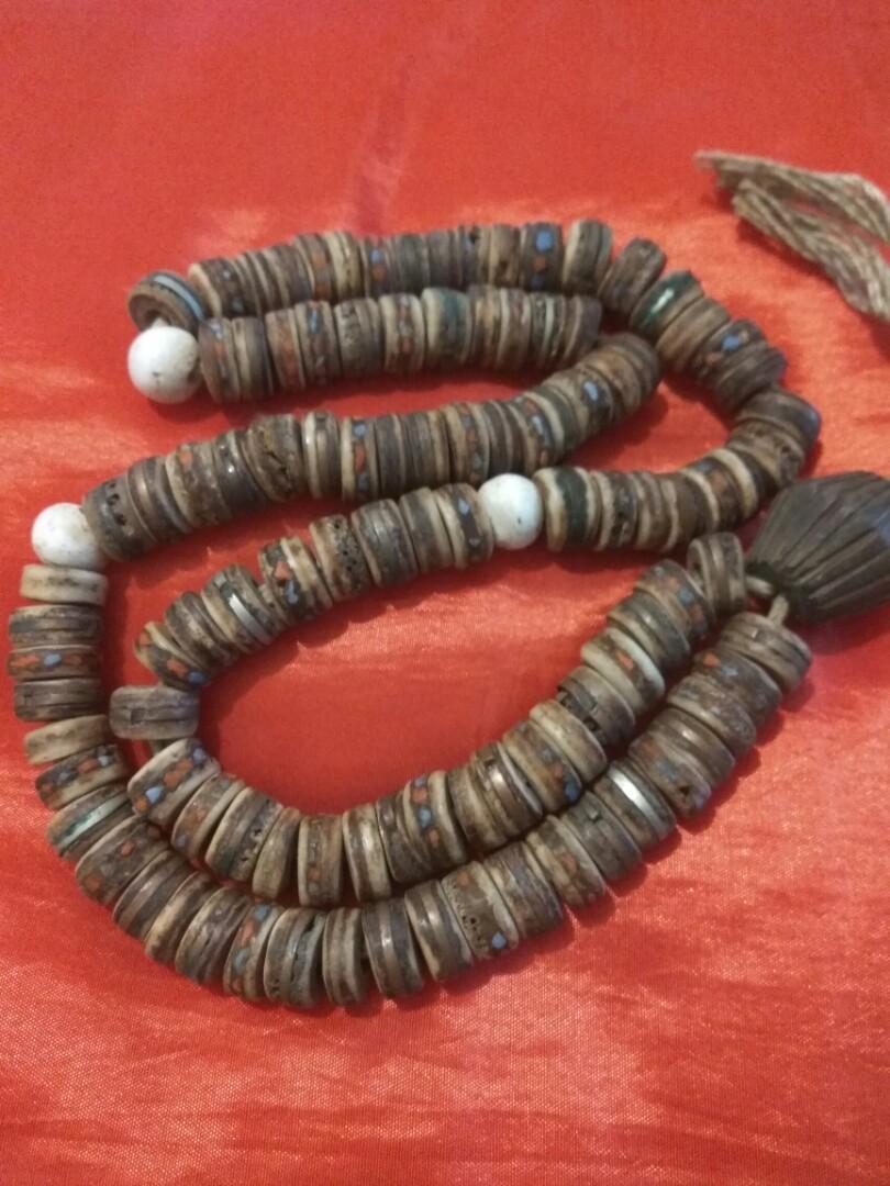 古舊西藏骨念珠