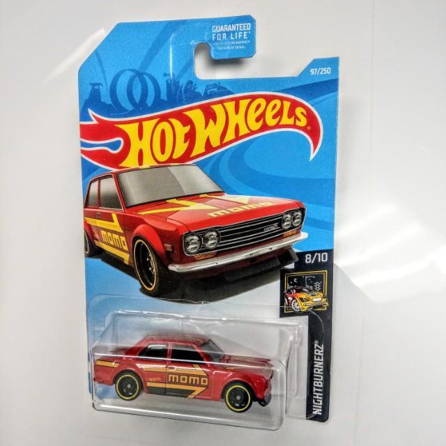 美版 2019 Hot Wheels datsun 510 bluebird momo