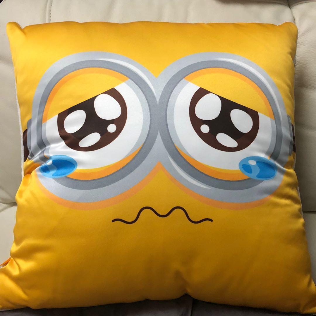 全新 雙面 Minions 迷你兵 小小兵 小黃人 cushion 攬枕 枕頭 47X47