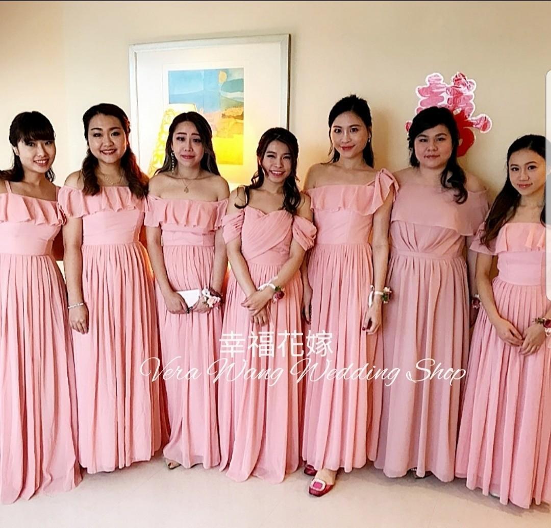 伴娘姊妹裙 全新度做姊妹裙服務 連化妝Set頭$498-558