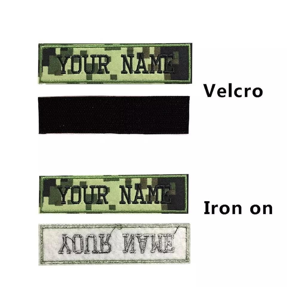 🆕🆒 Custom Military embroidery Name  Patch Camouflage Army Green patches US Brazil France UK country flag personalized