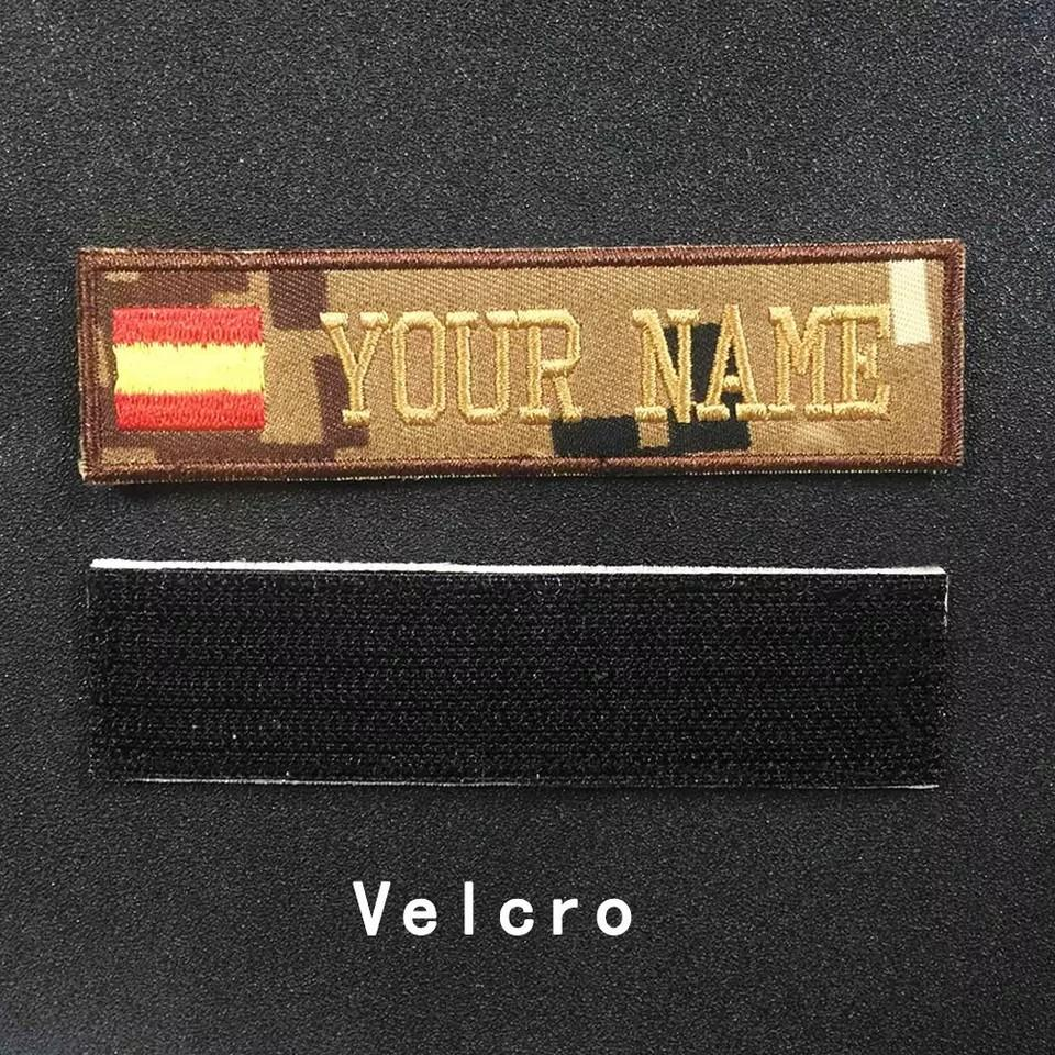 🆕🆒 Custom Military embroidery Name Patch Camouflage Army