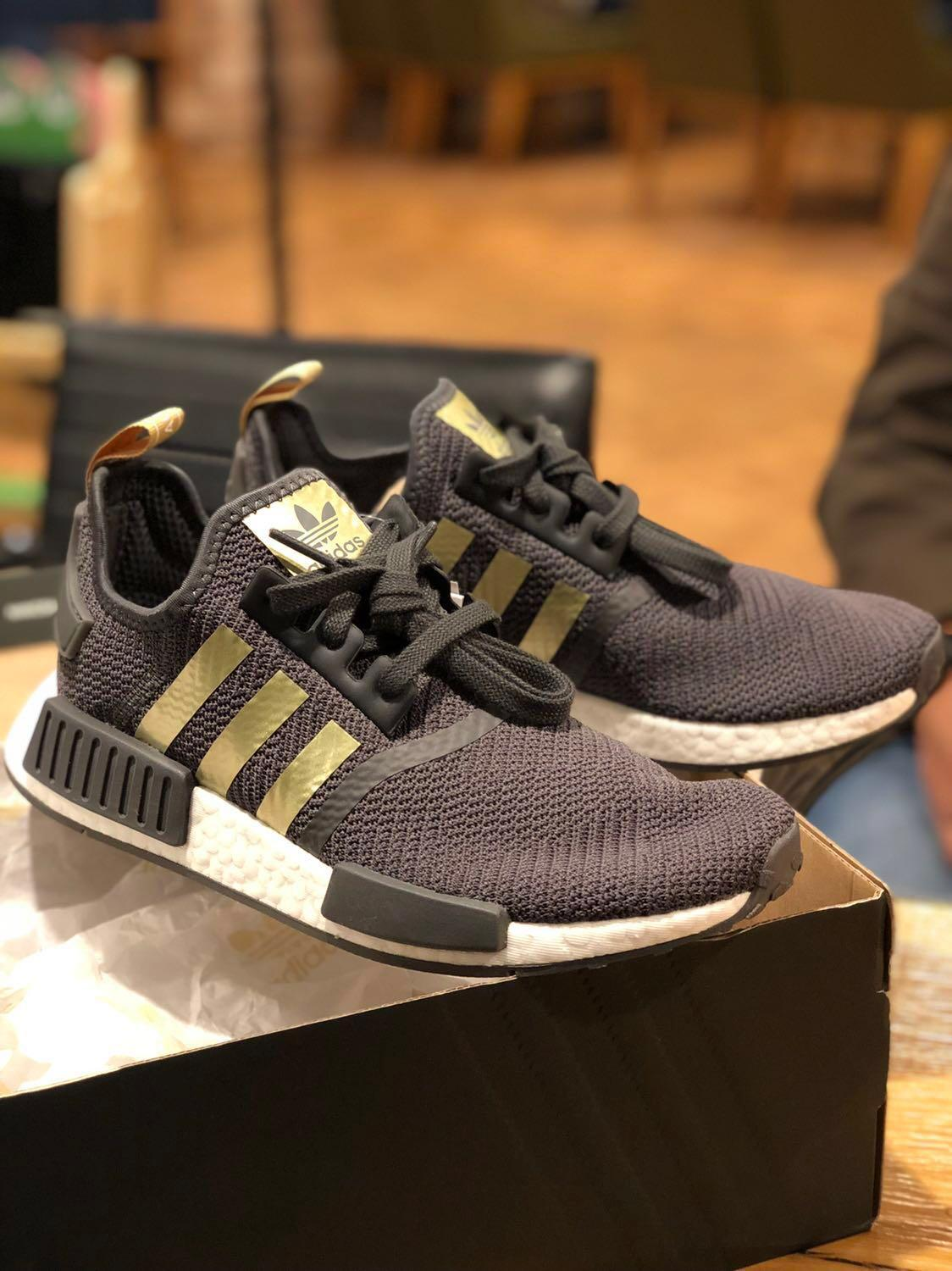 Adidas NMD R1 gold grey, Men's Fashion, Footwear, Sneakers
