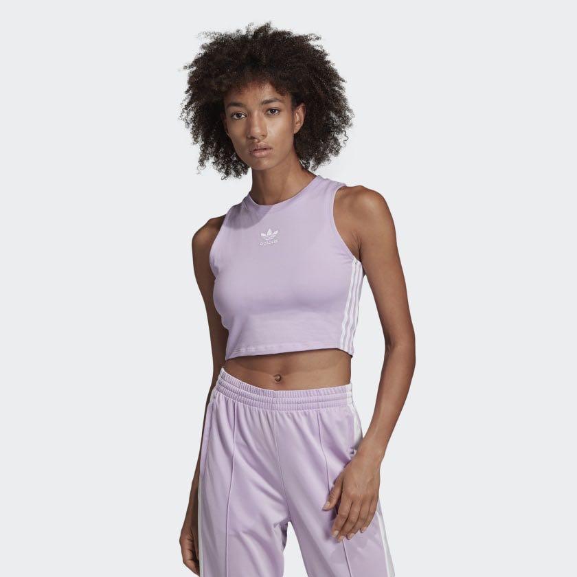 Adidas Originals Crop Top - Lilac