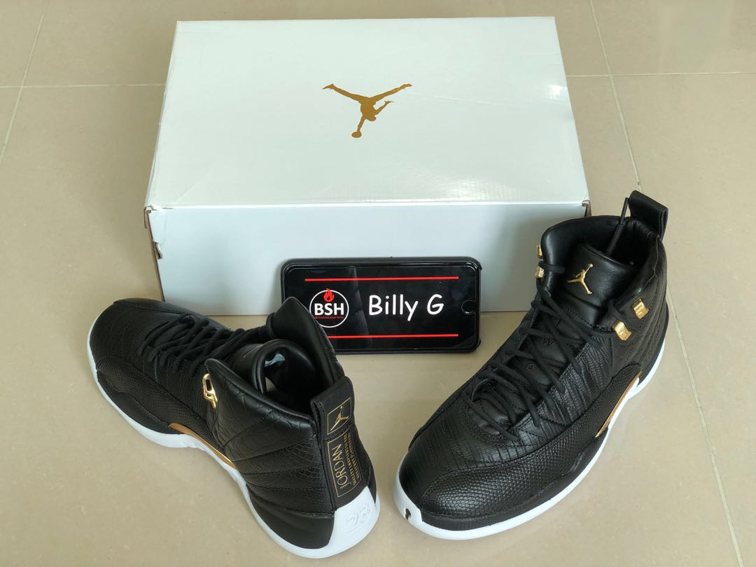 ccf54d0ebc4 Air Jordan 12 WMNS Black Reptile AO6068-007, Women's Fashion ...