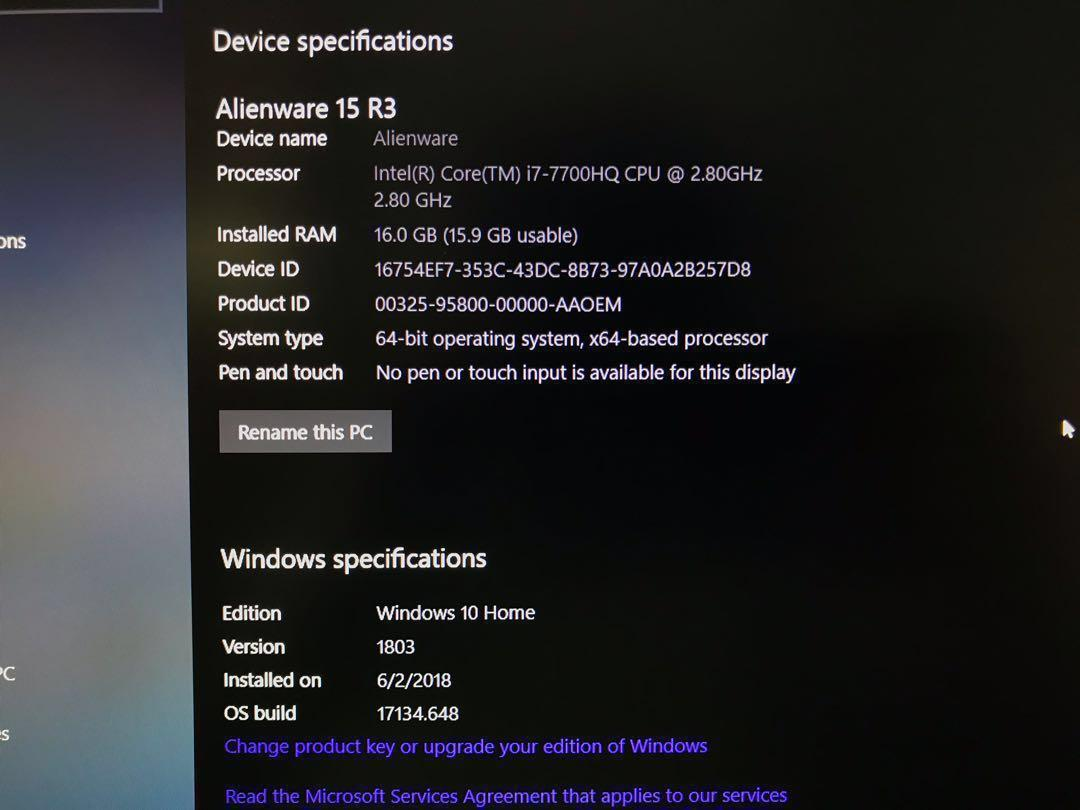 Alienware 15 R3 1070, Electronics, Computers, Laptops on