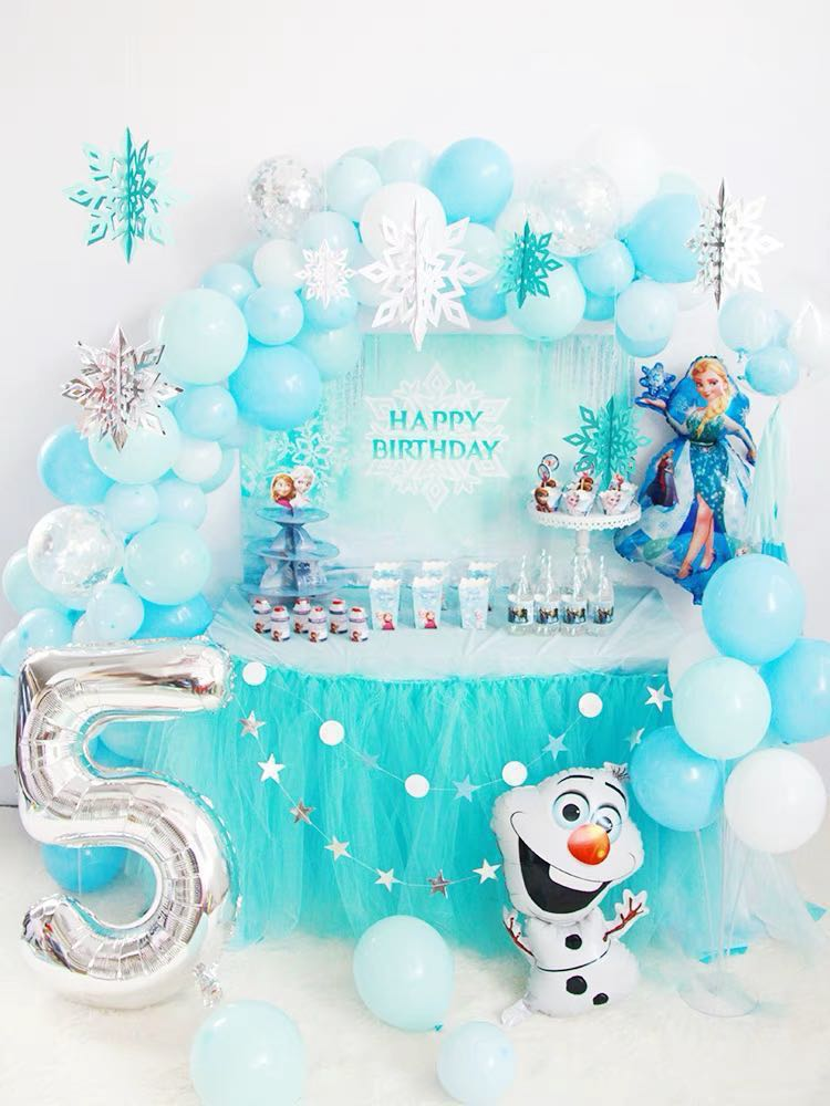 Baby Shower 1st Birthday Frozen Themed Party Decoration Backdrop