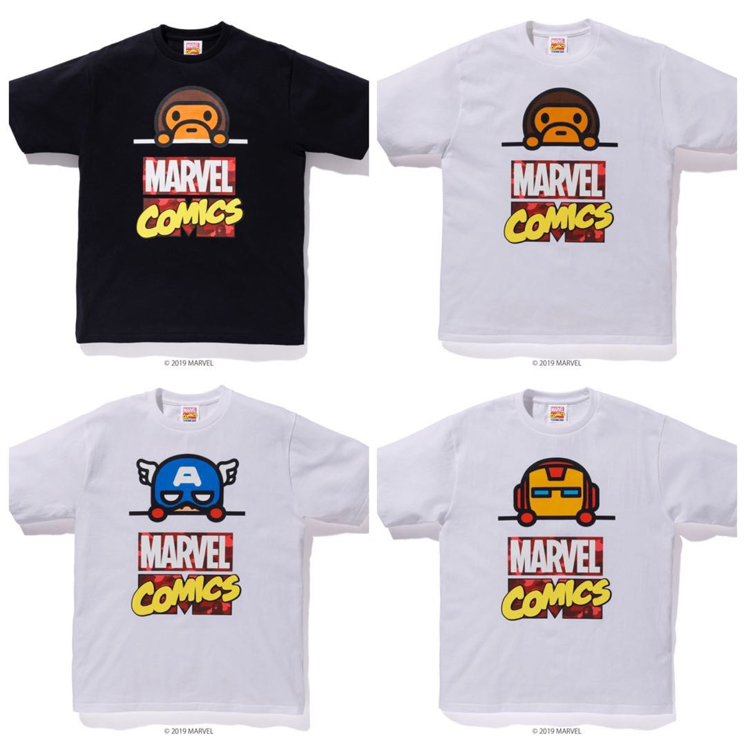 685eb06b BAPE MARVEL COMIC MILO TEE, Men's Fashion, Clothes, Tops on Carousell