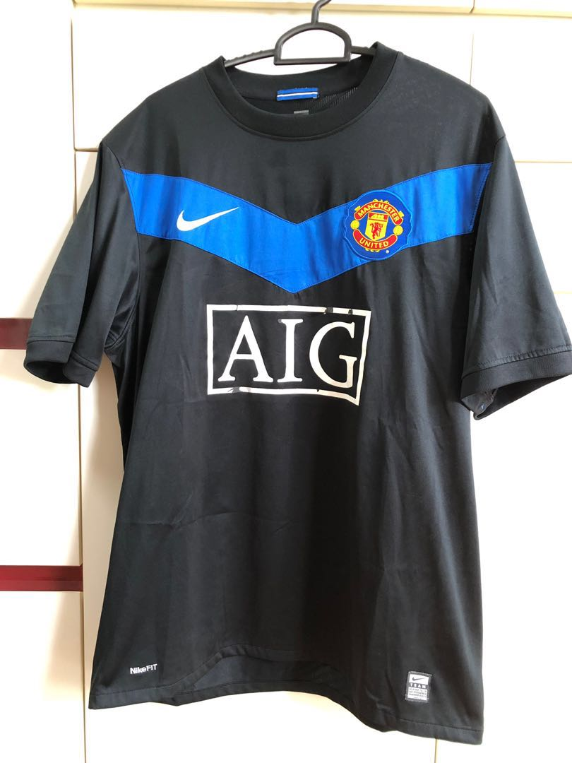 8770908a5 (Black AIG) Manchester United dri-fit MUFC sports Soccer Football Jersey  NIKE #mrtwoodlands, Sports, Sports Apparel on Carousell