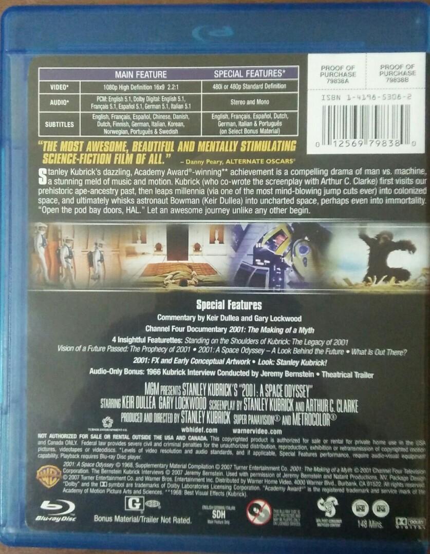 Blu Ray 2001: A Space Odyssey