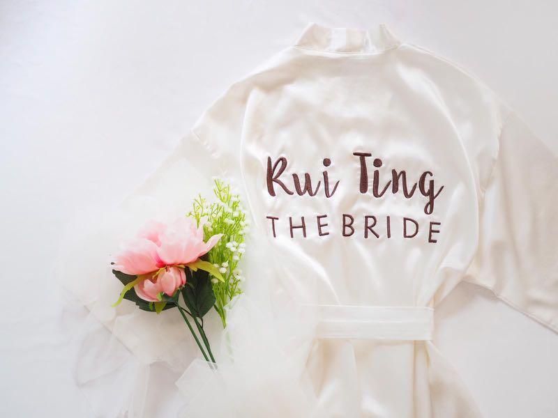 Bride Bridesmaid Robe Kimono