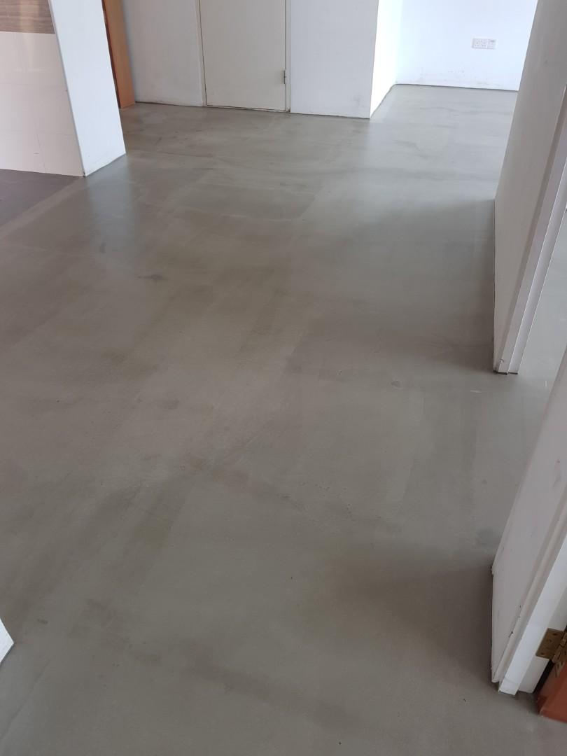 Cement and self-levelling floor screeding