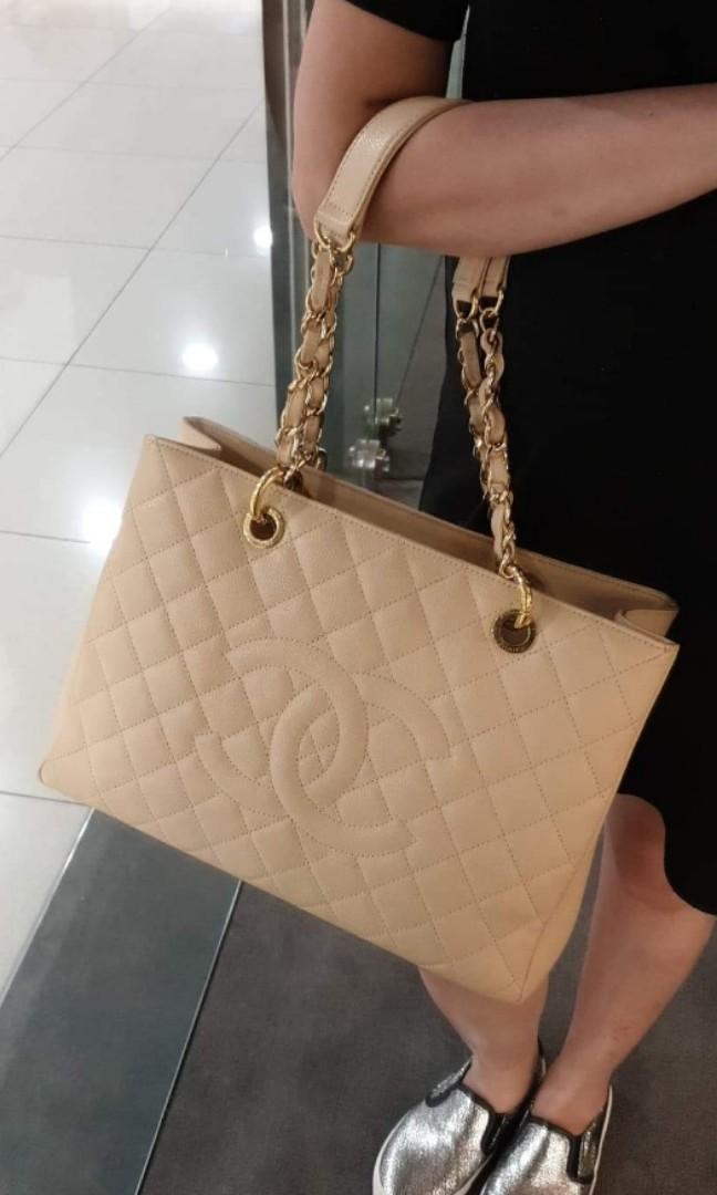 9cfe6d714eba Chanel GST - Beige Caviar Leather, Luxury, Bags & Wallets, Handbags ...