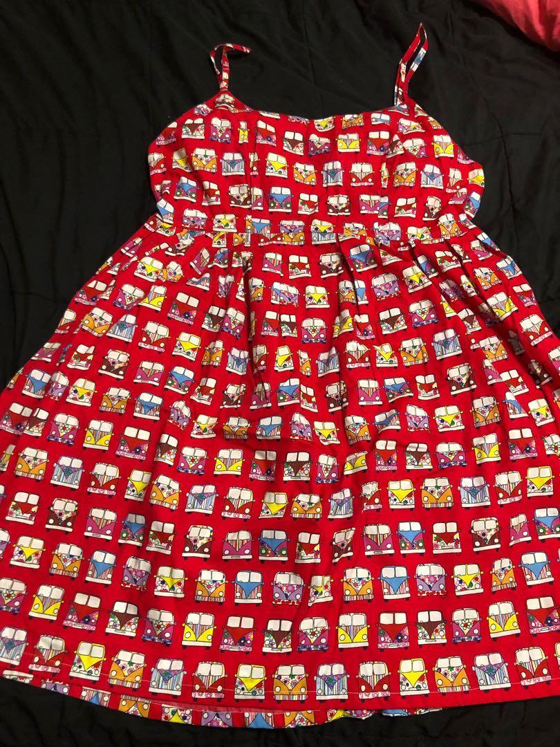 Combi Van dress- made in Australia- rockabilly Sz 14 20