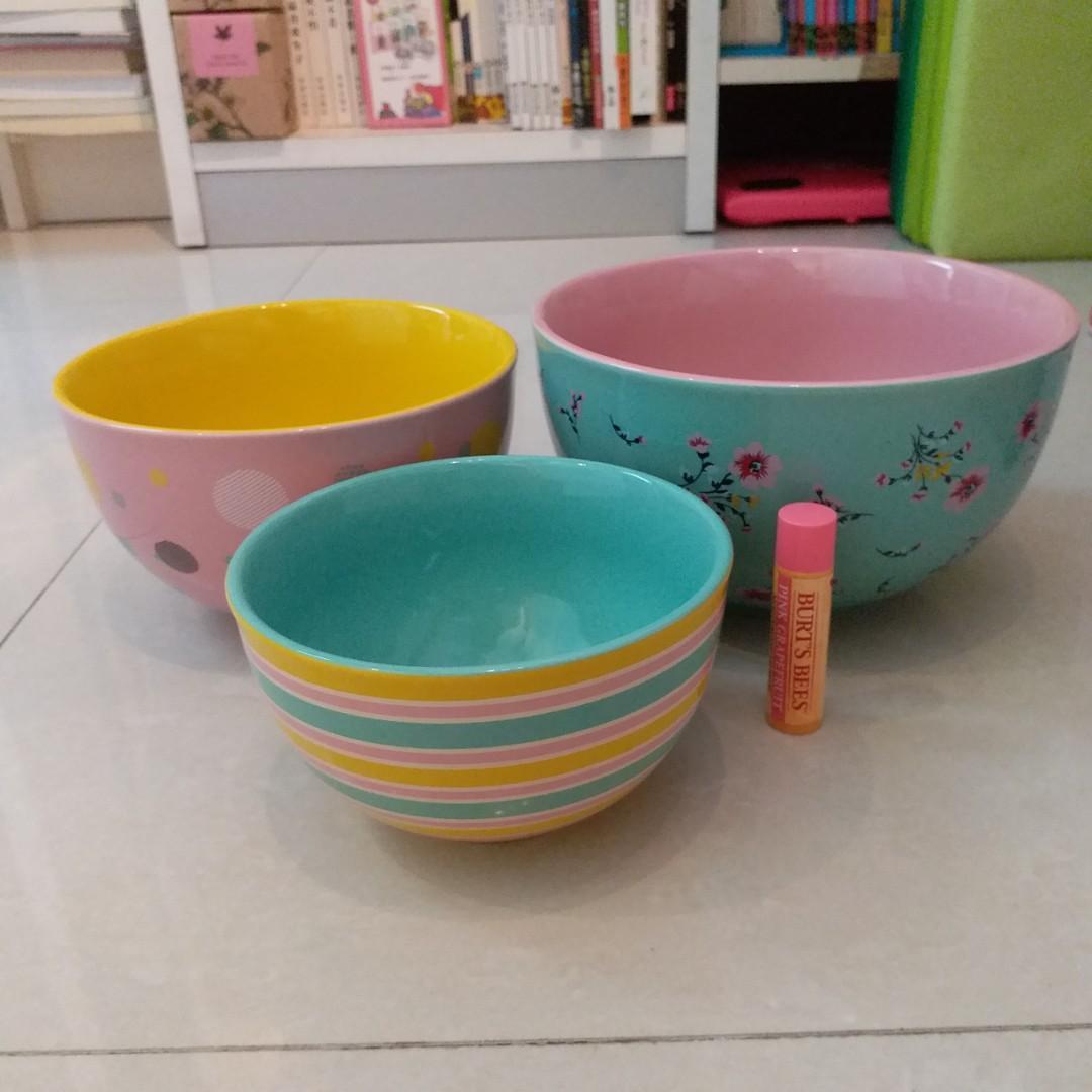 Crabtree & Evelyn London 3 bowls set 花套碗