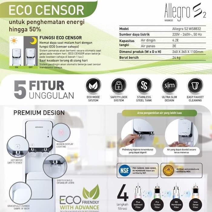 Dispenser Reverse Osmosis ADVANCE ALLEGRO S2