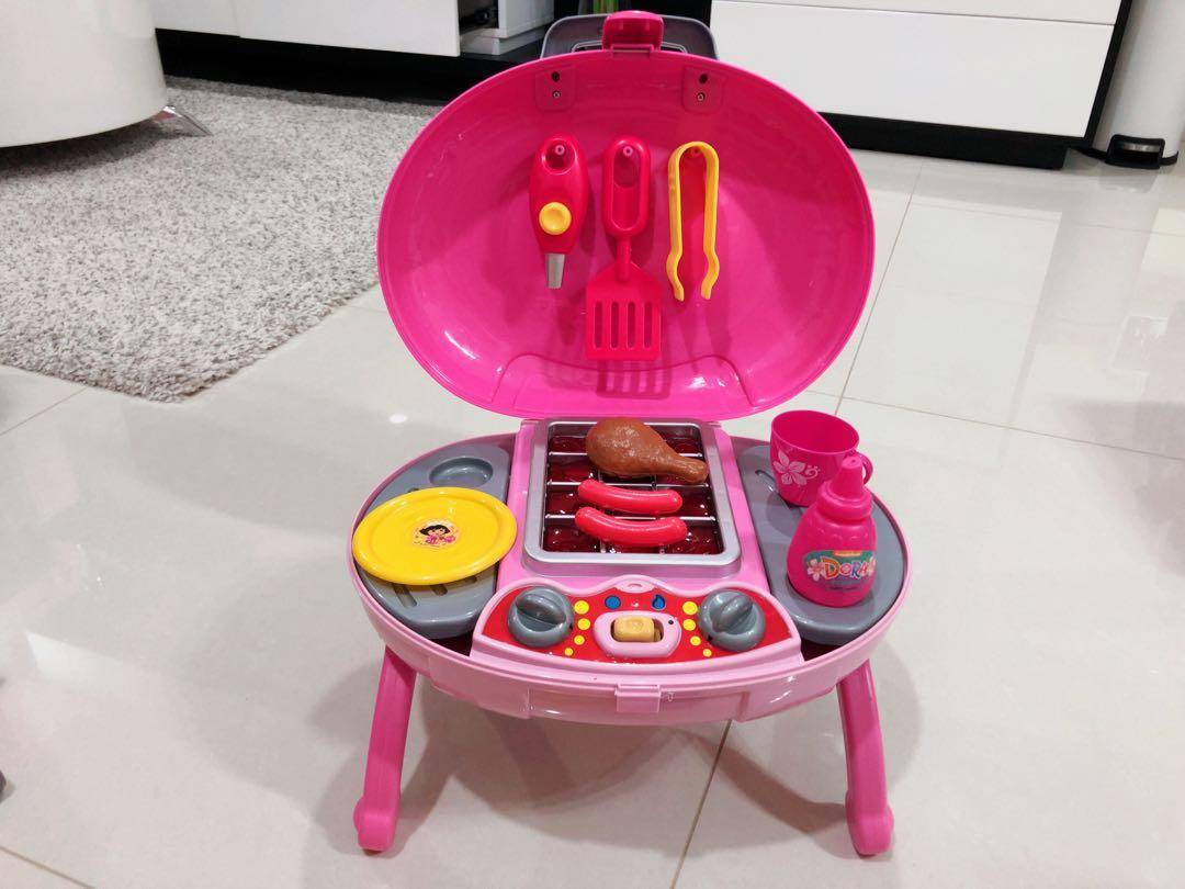 Dora Toy Kitchen Playset Barbecue Pit With Sound Lights Toys Games Others On Carousell