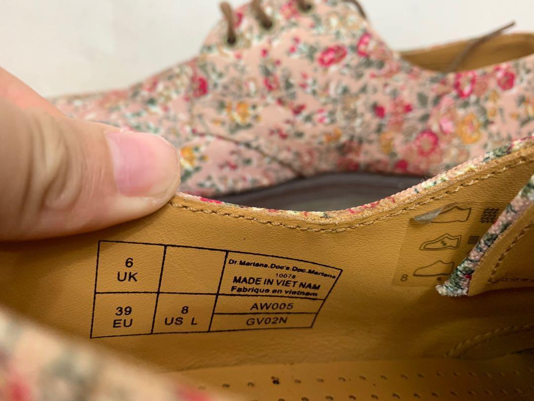 Dr Martens 碎花女裝鞋39號