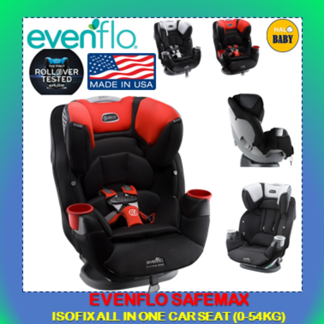Evenflo Platinum Safemax All In One Isofix Car Seat From Birth To 54kg