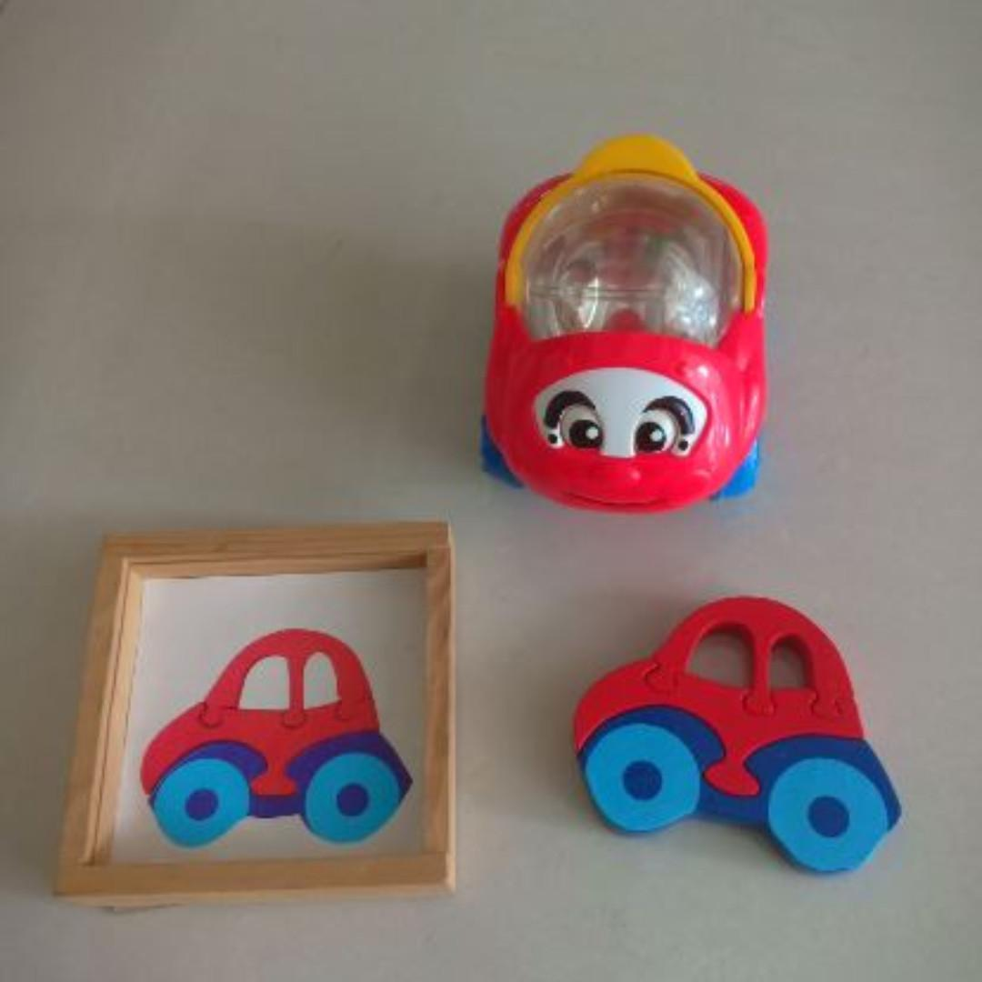 fisher price car wooden car puzzle