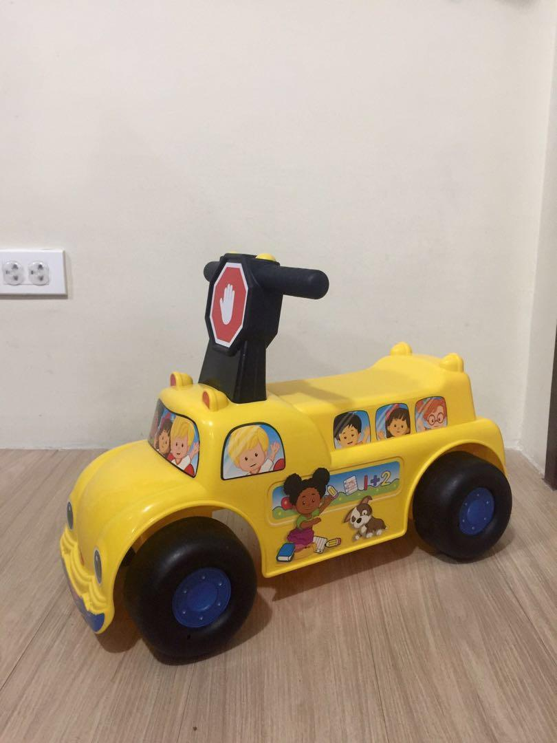 Fisher Price School Bus Ride On Vehicle on Carousell