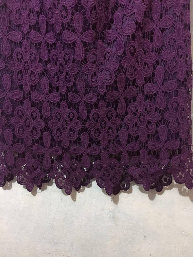 Flower Skirt Brukat Prada