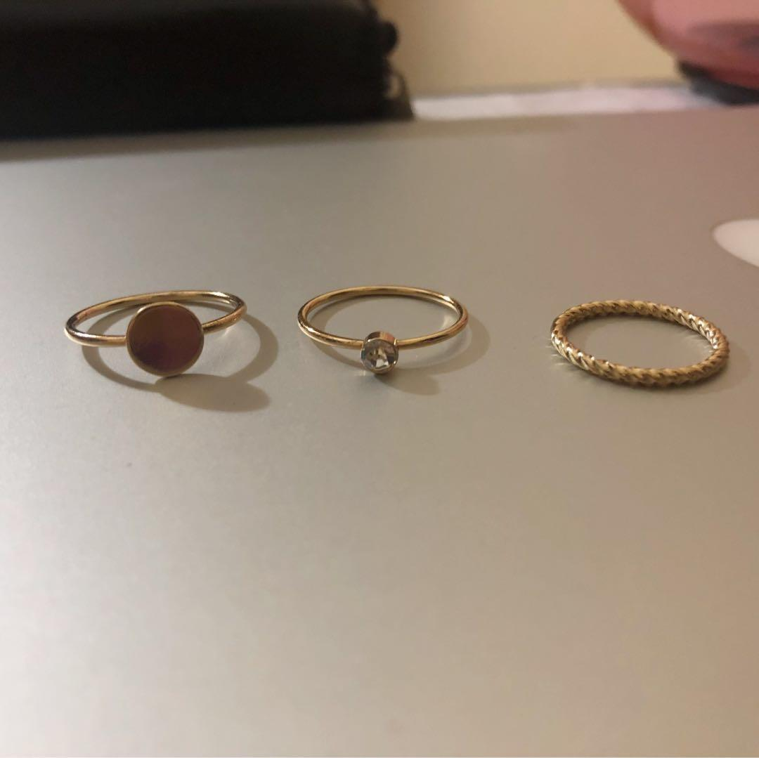 Gold 12-pack rings