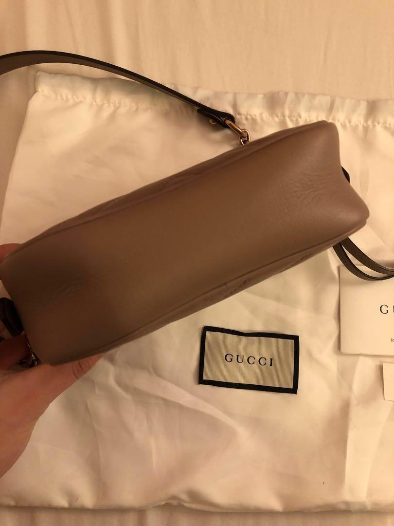 Gucci GG Marmont Matelasse Mini Camera Bag Dusty Pink