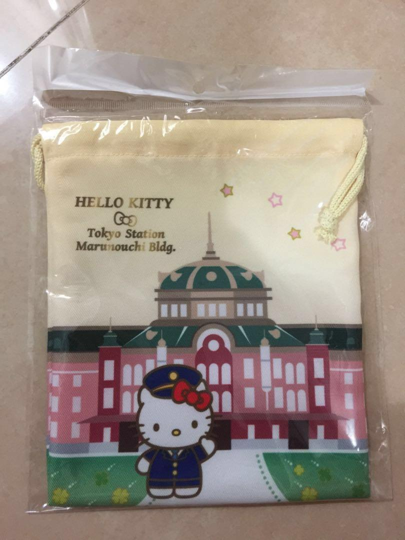 Hello Kitty from Tokyo Station 索繩袋