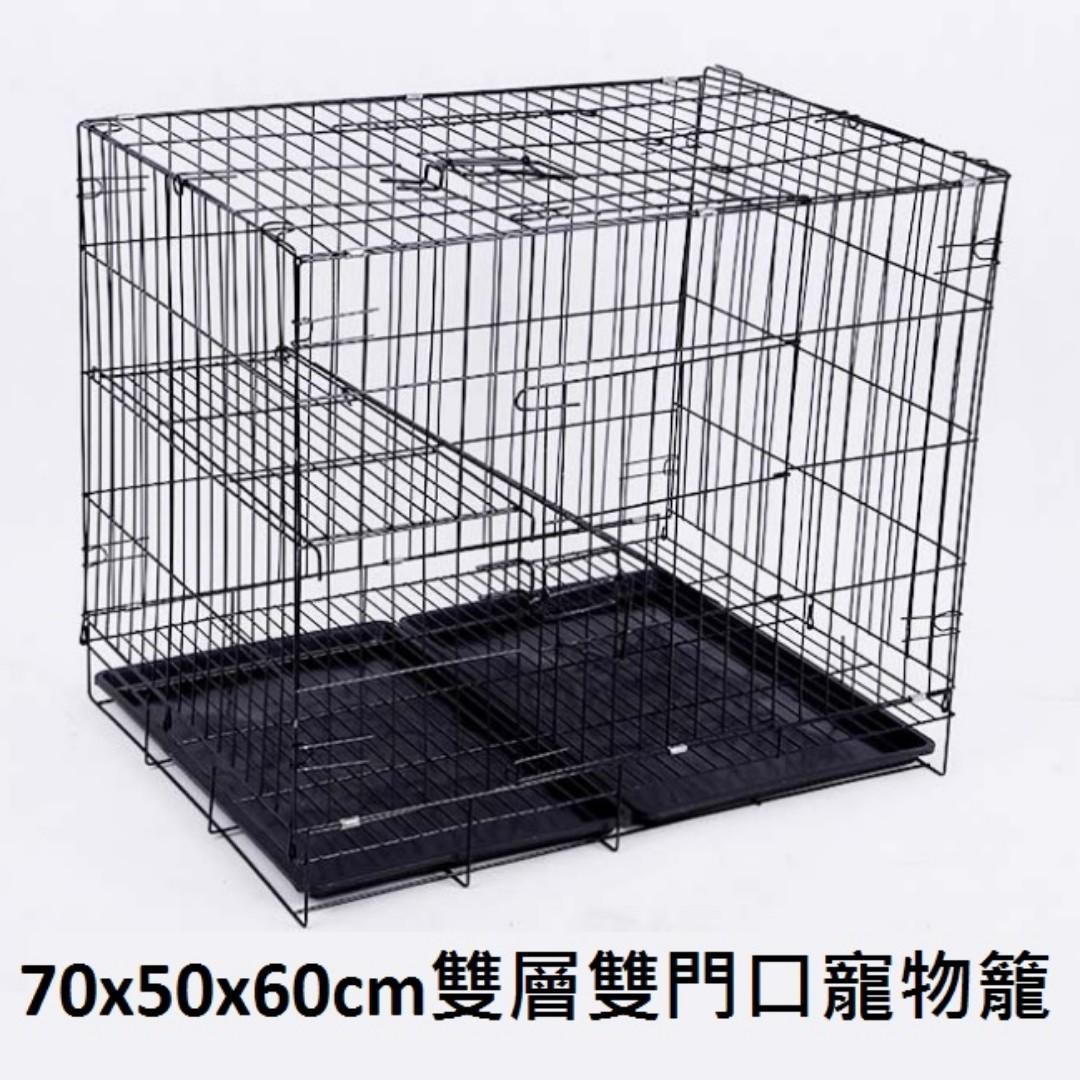 HK$268/1個 ~ 全新金屬雙層帶鈄梯寵物籠, 貓籠, 狗籠