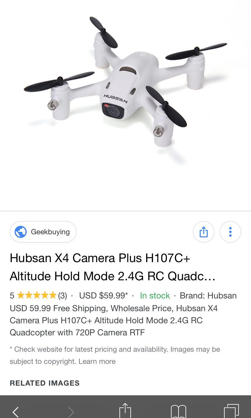 Hubsan X4 camera plus H107c+ attitude hold mode 2.4G RC quad