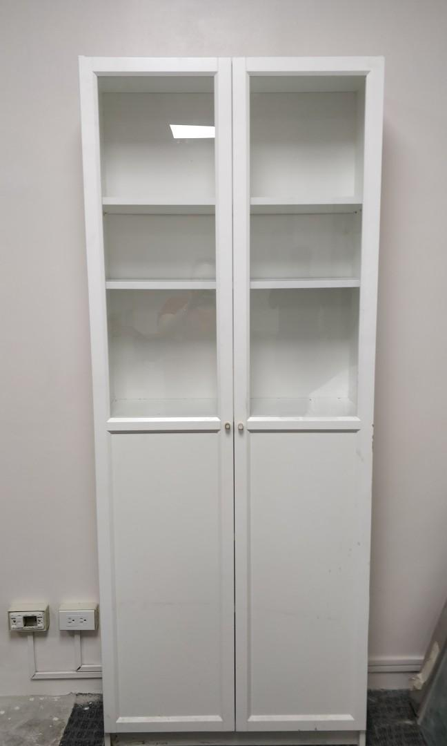 huge selection of 5382d b165e IKEA Billy Oxberg Cabinet with Glass Door on Carousell