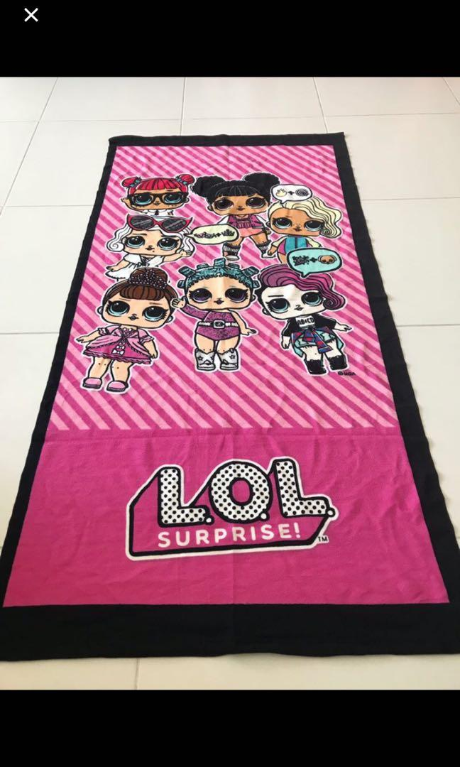 Instock now !! New arrival .. authentic lol surprise kids towel brand new Ht 140cm wt 70cm