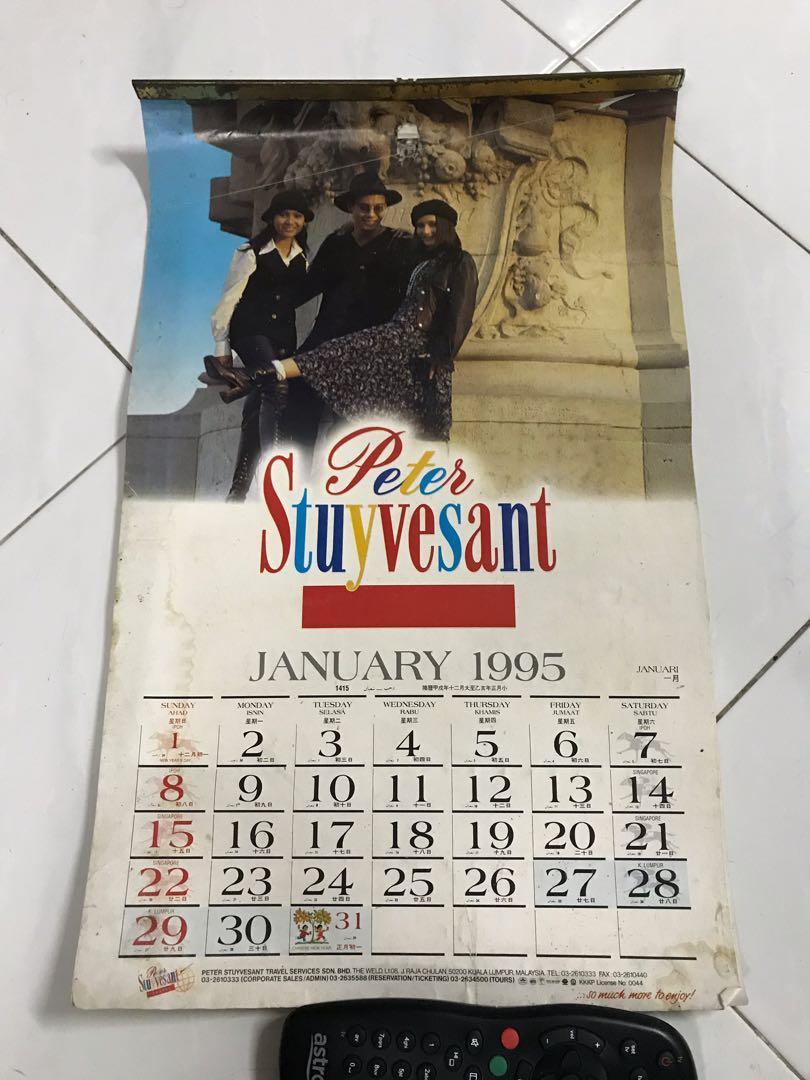 Kalendar Peter Stuyvesant 1995