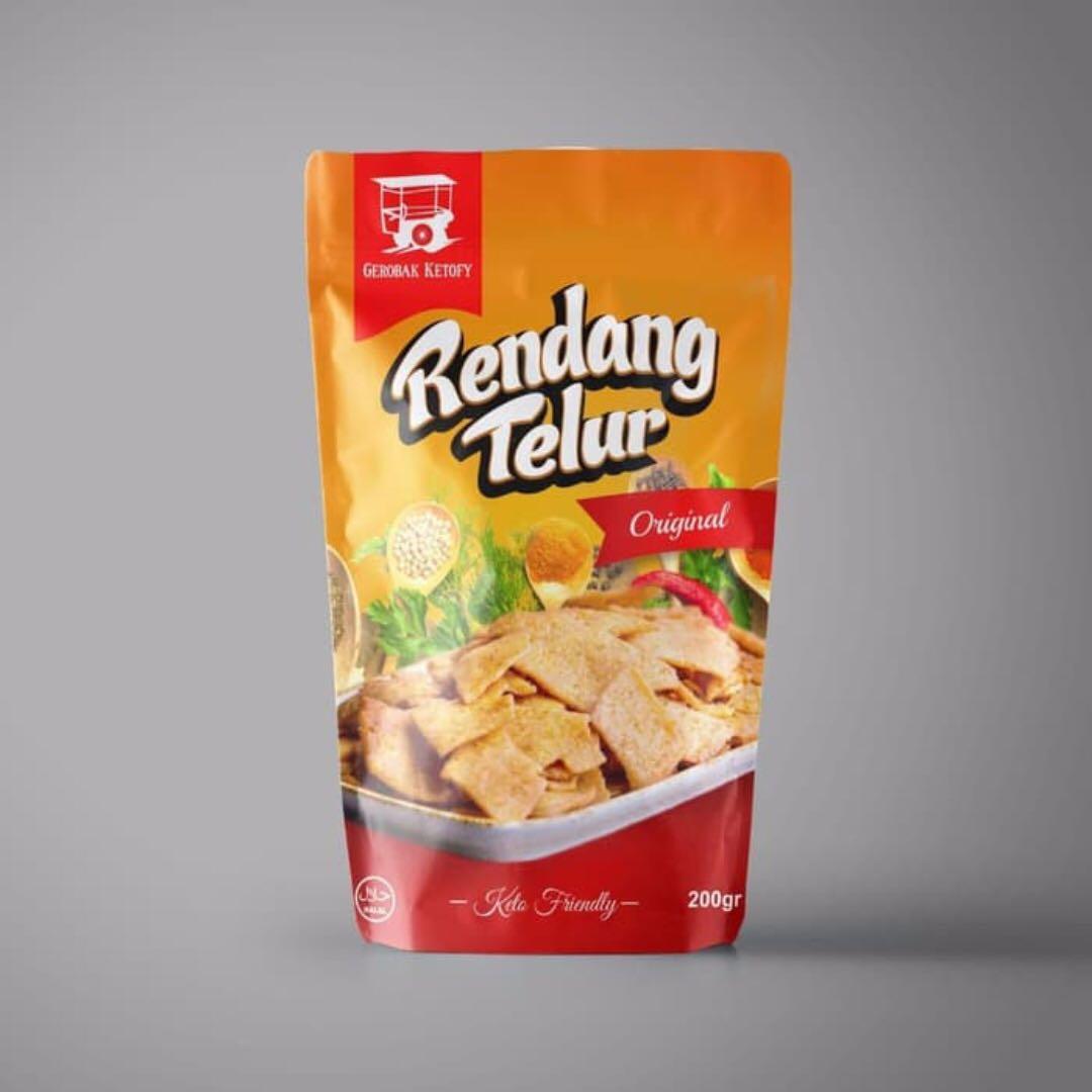 [SALE!] Keto Snacks Rendang Telur Egg Crackers Original Flavour