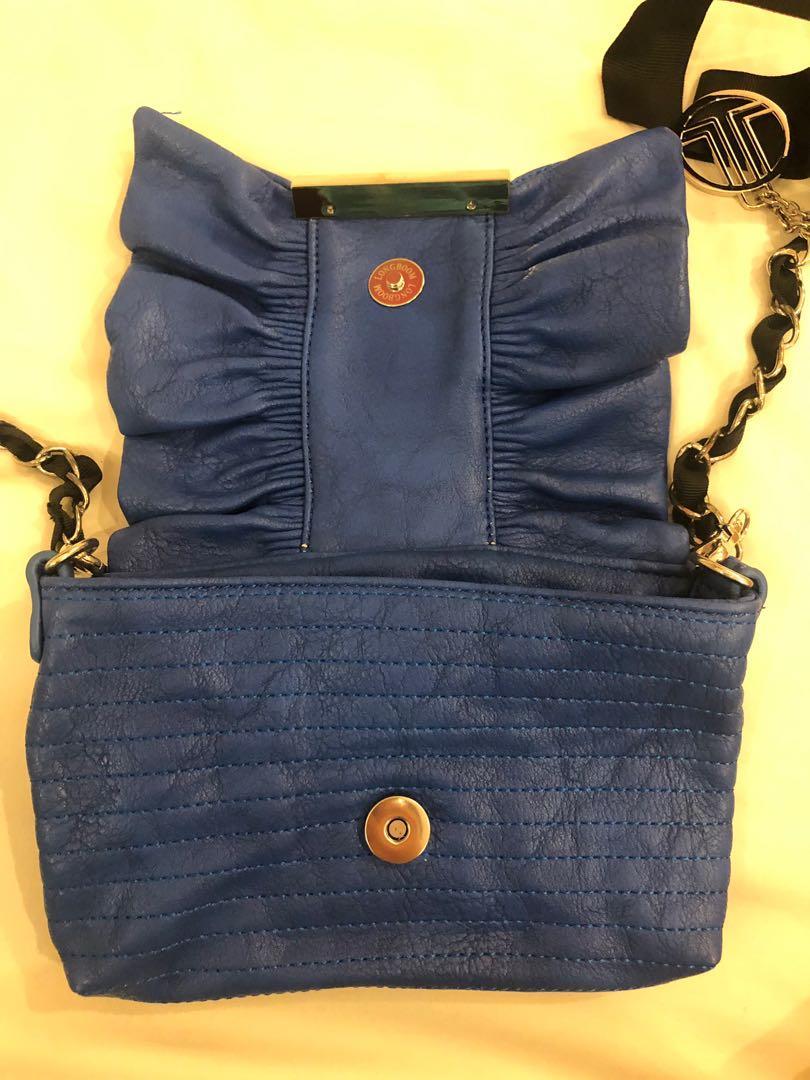 LANVIN en Bleu Clutch / Chain Bag