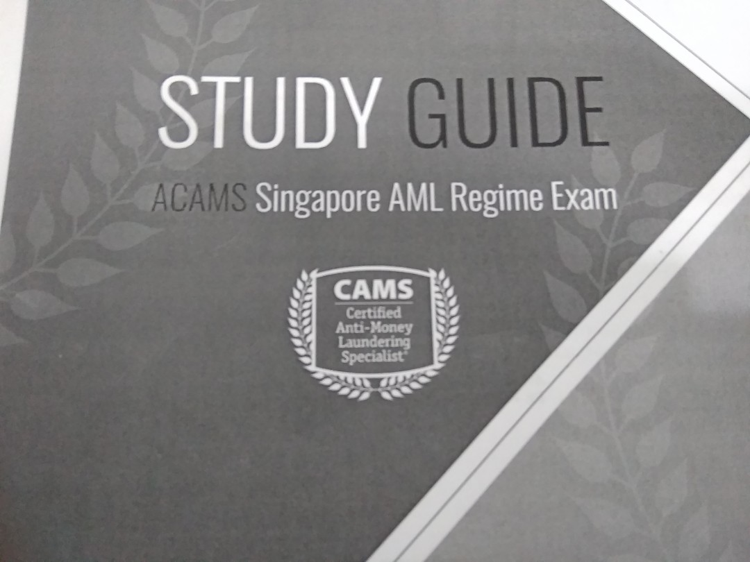 Looking for Singapore Aml Regime Exam (ACAMS) mock paper/ sample exam paper