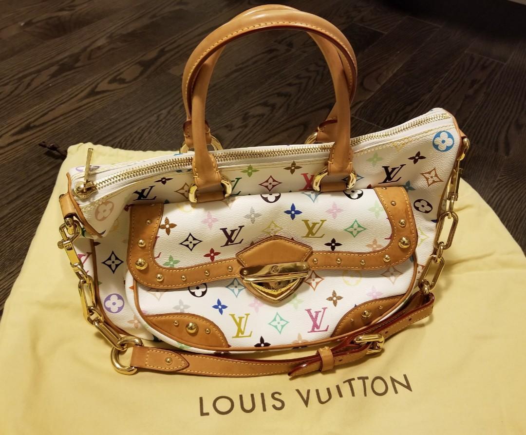 LOUIS VUITTON Multicolore Rita Bag in White
