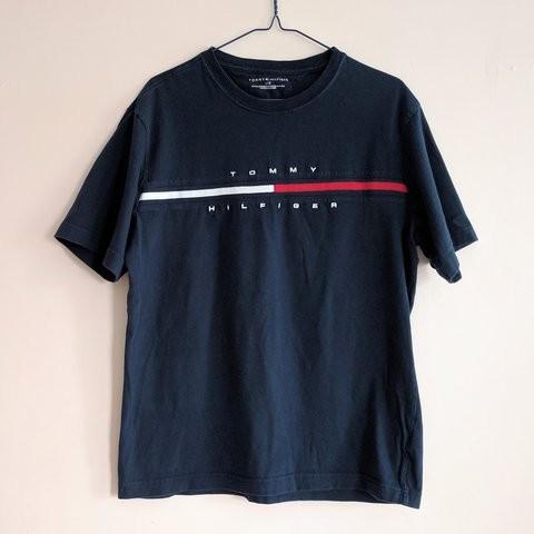 92be6e144d5 LN!*10/10 M Tommy Hilfiger Script Tee Shirt 'Navy', Men's Fashion ...