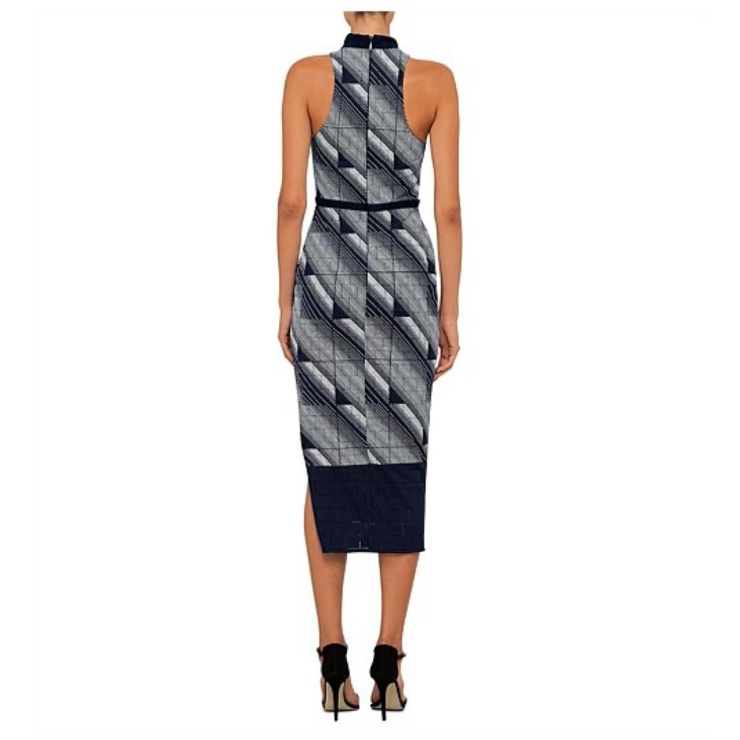 MANNING CARTELL GEOMETRY SET SHEATH DRESS - SIZE 6 AU (RRP $599)