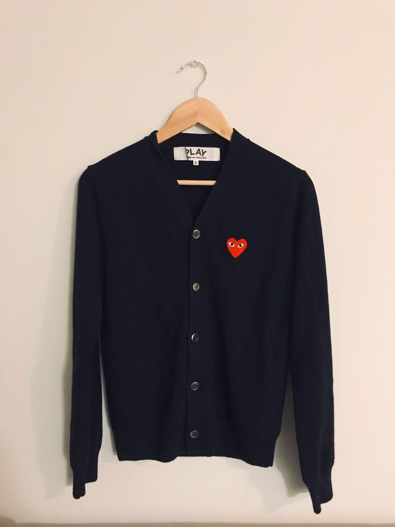 Men's COMME does GARÇONS PLAY Cardigan - Navy - Small